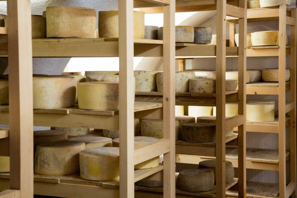 Zorilnica sirov na kmetiji Podpečan